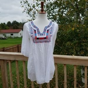 Earthbound White Peasant Top